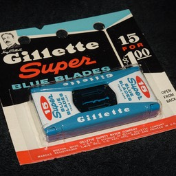 1961 Gillette 15 Blade Dispenser 1d
